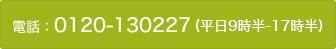 電話: 0120-130227 (平日10-19時)