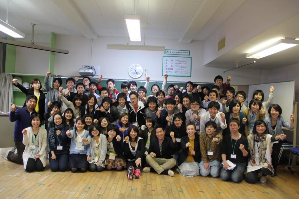2013年5月に、職員・インターン生が集まって行った全体会議
